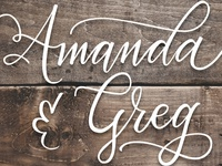 Hand Lettered to Vector:  Amanda & Greg