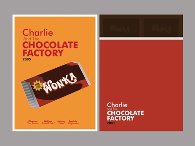 Charlie And The Chocolate Factory movie poster design