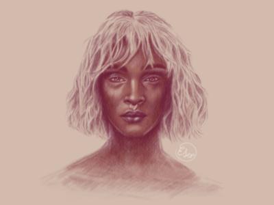 Stranger illustration art ipad drawing