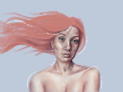 Mermaid illustration art drawing