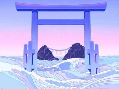 Floating World pastel sailormoon ukiyo-e aesthetic japanese art japanese japan illustration