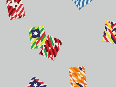 World Cup Stamps 2014 maan world cup 2014 nation illustration stamps graphic print