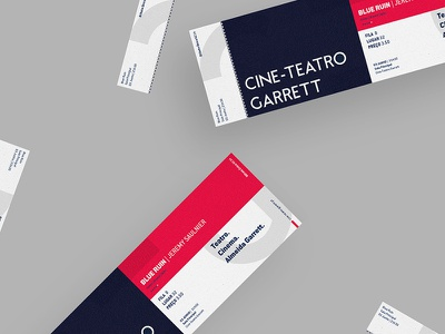 Cine-Teatro Garrett maan garrett cine branding art theatre graphic print ticket