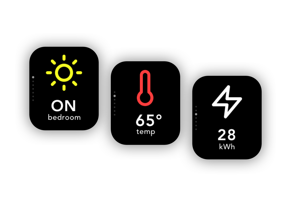 Daily UI #021 - Home Monitoring Dashboard light energy temperature home monitoring dashboard monitor home 021 apple apple watch watch app ux ui design daily ui dailyui daily 100 challenge