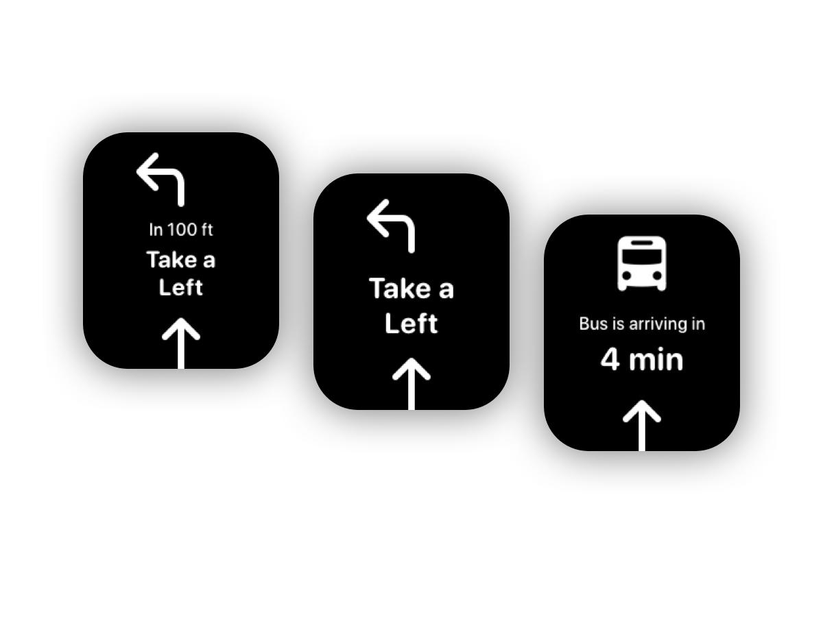 Daily UI #029 - Map Navigation commute travel navigation navigate bus map 029 apple apple watch app ux ui design daily ui dailyui daily 100 challenge