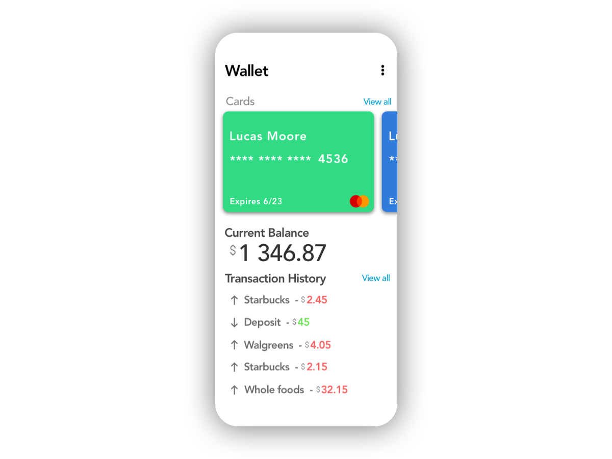 Daily UI #030 - Pricing wallet app credit card 030 pricing price wallet app ux ui design daily ui dailyui daily 100 challenge