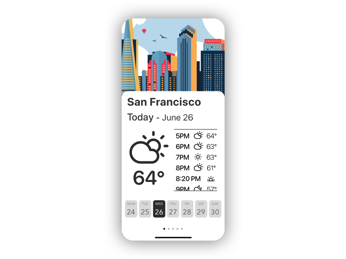 Daily UI #037 - Weather 037 san francisco sf weather app ux ui design daily ui dailyui daily 100 challenge