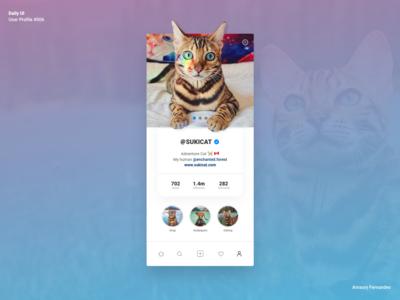 Daily UI - User Profile #006