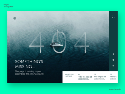 Daily UI - 404 Page #008