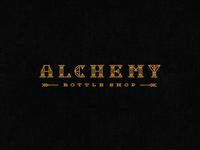 Alchemy Bottle Shop Logotype