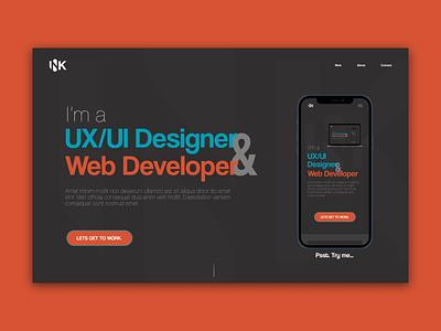 JcInk Design Personal site DailyUI Challange 003 ux figma design 100daychallange dailyui branding graphic design ui