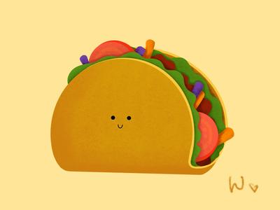 Baby Taco art taco procreate drawing