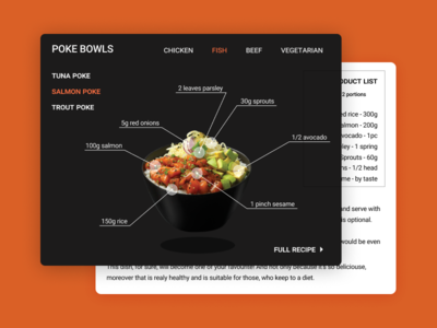 Recipe - Daily UI #040