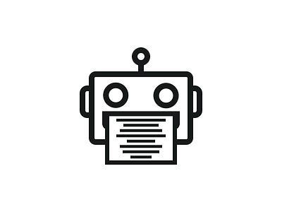 Waveformer icon. droid minimalism generate wav audio generator robot icon waveformer