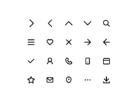 Simple icon set. (WIP)
