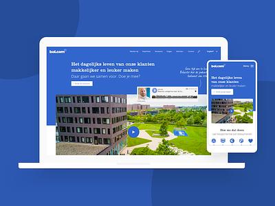 Banen.bol.com open sans clarendon behance retailer blue jobs recruitment online retail bol.com banen.bol.com