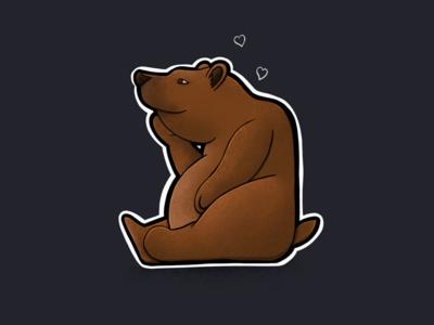Sitting Animal Series: Bear