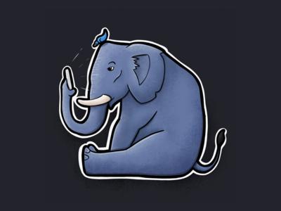 Sitting Animal Series: Elephant