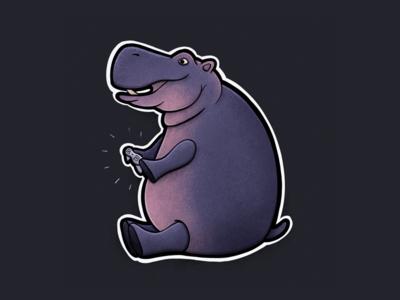 Sitting Animal Series: Hippo