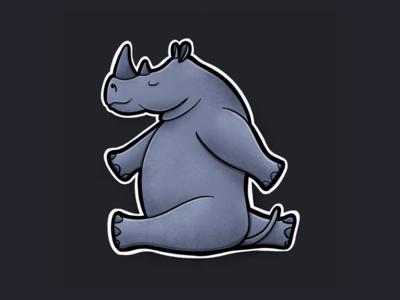 Sitting Animal Series: Rhino
