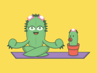 Mother & baby cactus doin' some Yoga