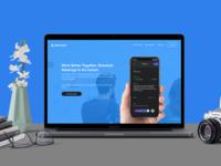 Website Showcase Mockup Scene for my MEET UP application