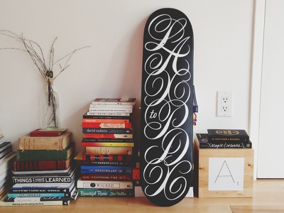 LAX to PDX design lettering typography ligature script skateboard creative inspiration airport