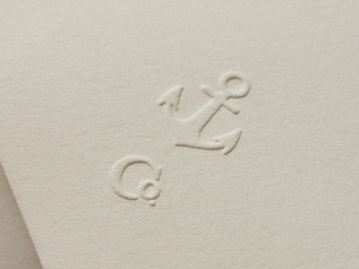 Embossed Anchor