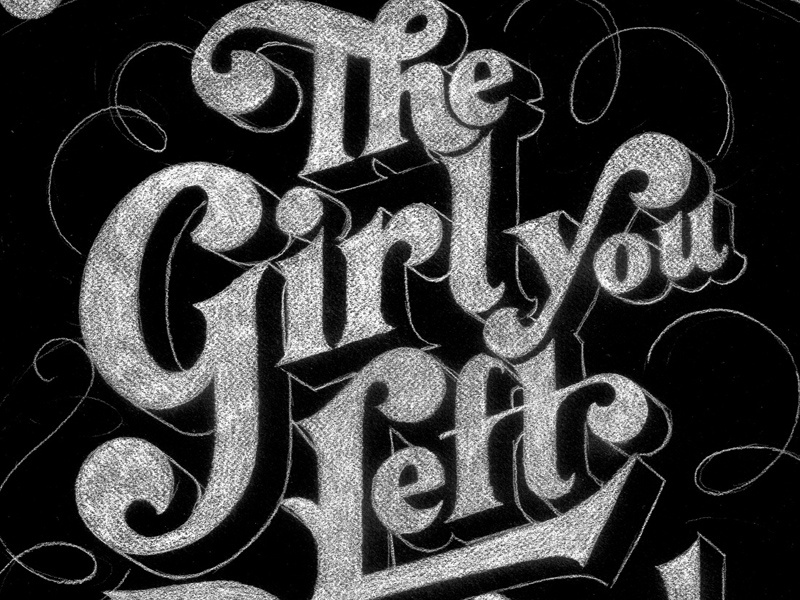 The Girl You Left Behind design lettering typography flourishes ligatures book cover penguin