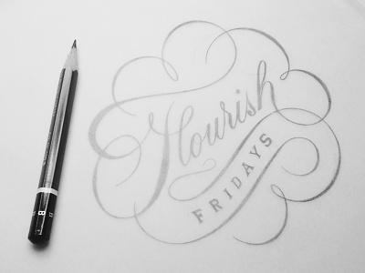 Flourish Fridays:001 design lettering typography flourishes ligatures