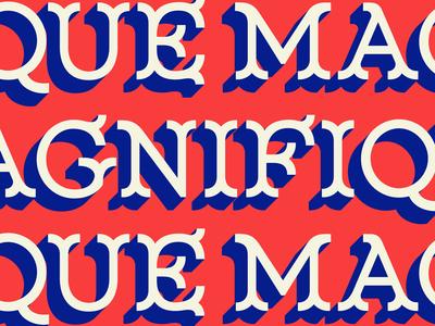 New Font! Magnifique Display