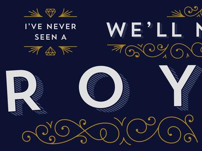 Trend Hero lettering typography monotype flourishes ornaments decorative lorde centerbox