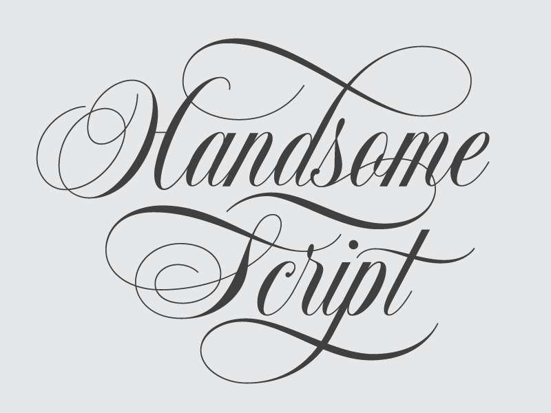 Handsome script by drew melton dribbble