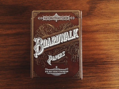 Boardwalk Playing Cards lettering typography flourishes filigree inspiration playing cards decorative beautiful classic