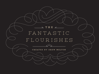 The Fantastic Flourishes Collection lettering design resource vector pack available flourishes decoration filigree beautiful wedding invitation