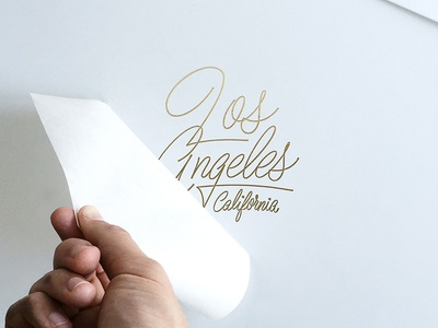 Los Angeles Metallic Gold Decals for Sale! california los angeles art decal for sale ballpoint script product typography lettering
