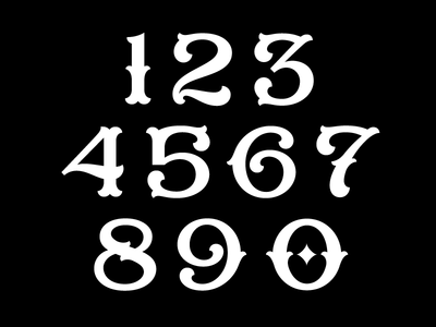 Boulangerie Numerals numerals tool beautiful decadent dimension announcement release french typeface font lettering