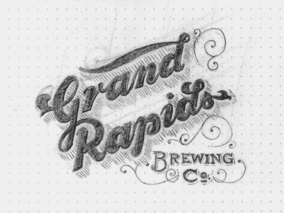 Grand Rapids Brewing Sketch sketch type design inspiration lettering rough whatever branding logo concept identity brewery beer