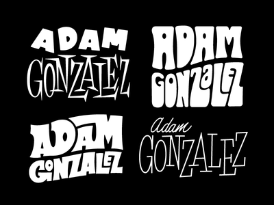 Adam Gonzalez Lettering Treatments phraseology expressive quirky funky psychedelic 70s 60s 50s lettering