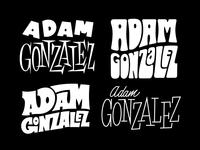 Adam Gonzalez Lettering Treatments