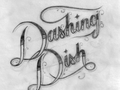 Dashing Dish Concept #2 sketch type design inspiration lettering rough whatever logo concept process client work identity branding