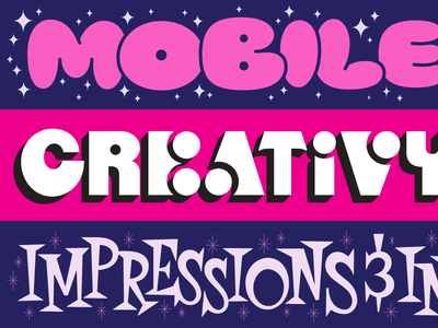 Adweek Illustrations bubbly funky fifties futuristic stylized tech los angeles lettering