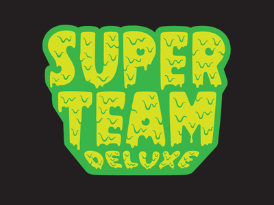 STD's logo product sticker patch pin super team deluxe design typography lettering