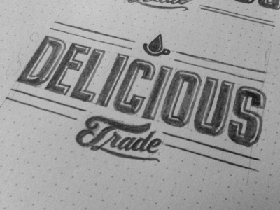 Delicious Trade Sketch sketch lettering typography design logo brand coffee military retro navy client whatever