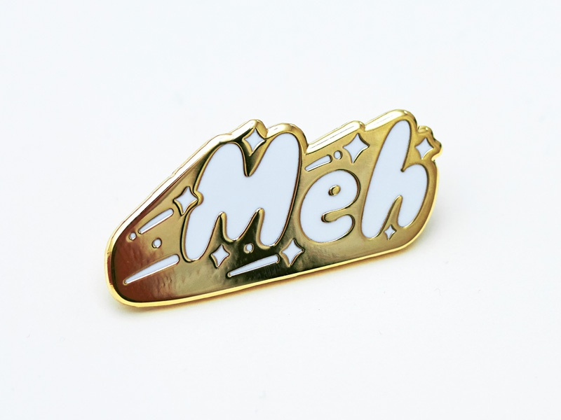 Meh mediocre stars lettering for sale sale product pin lapel meh