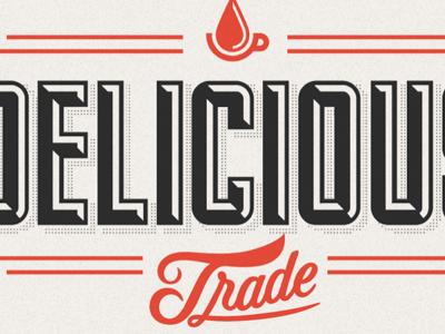 Delicious Logo logo design typography type lettering letters coffee caffeine processq