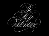 Be My Valentine sketch pencil graphite sketch sophisticated elegant beautiful flourishes design script lettering