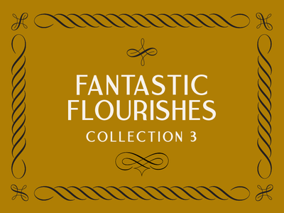 The Third Fantastic Flourishes Collection corners borders swashes swirls filigree ornament decoration flourishes