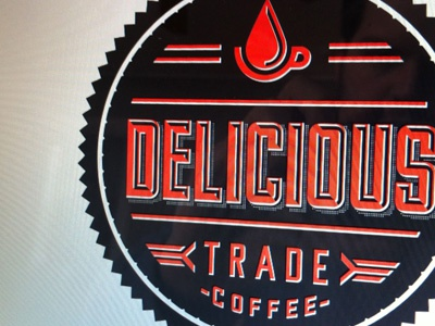 Delicious Trade Stamps design typography lettering logo branding sticker stamp coffee icons in progress