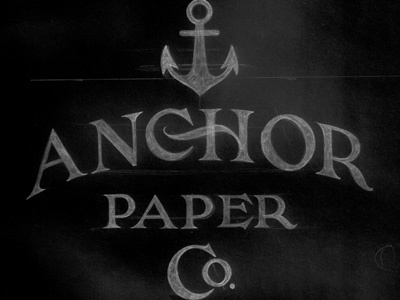 Anchor Paper Co. design typography lettering anchor sketch pencil paper nautical co company process peek